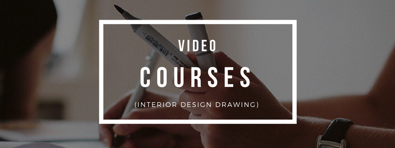 Interior design drawing sketch course