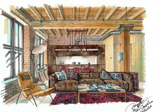 Interior Design Drawing With Markers My Video Courses Book Free