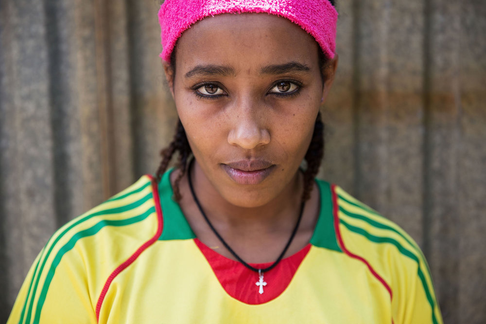 Tigisti Kebede (17) is one of four athletes who crossed their arms in a symbol of protest while representing Ethiopia at an athletics tournament in Durban. Fearing reprisals the four decided to run away from the hotel and are now seeking refuge in South Africa.