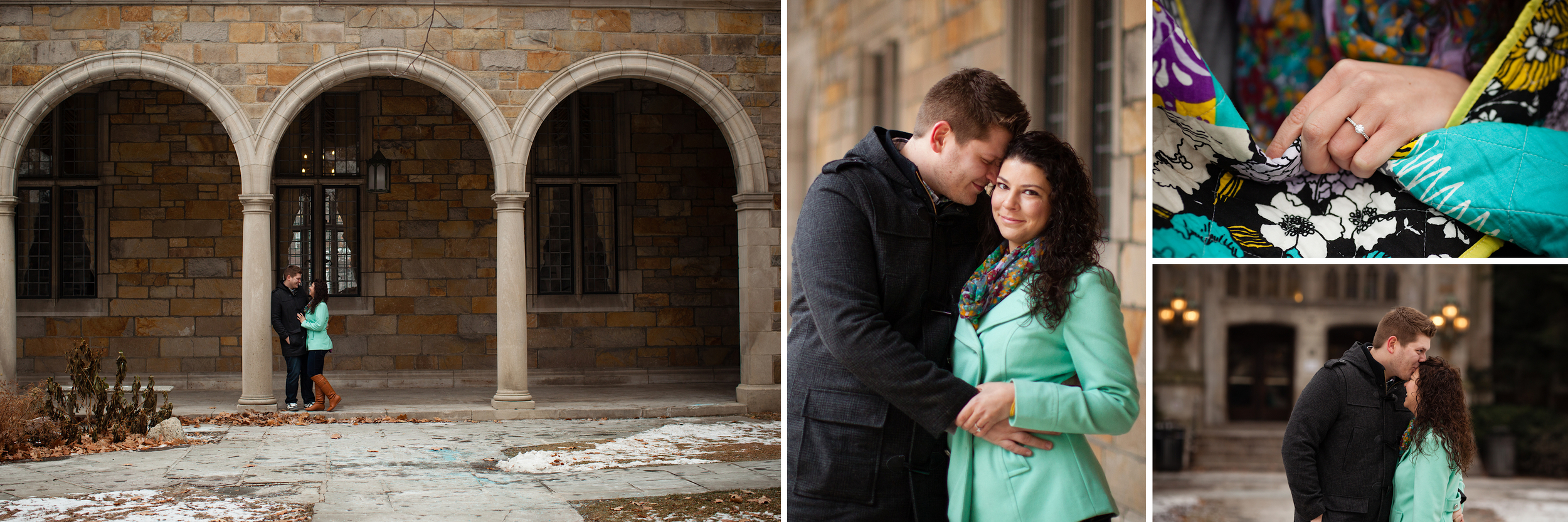 university of Michigan engagement session