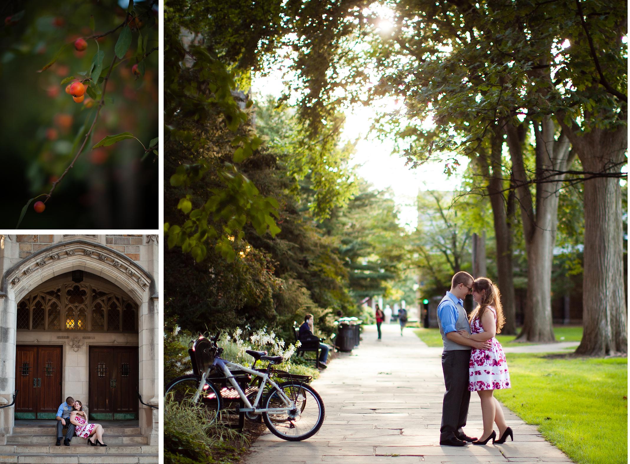 Ann Arbor Engagement Photographer Law Quad