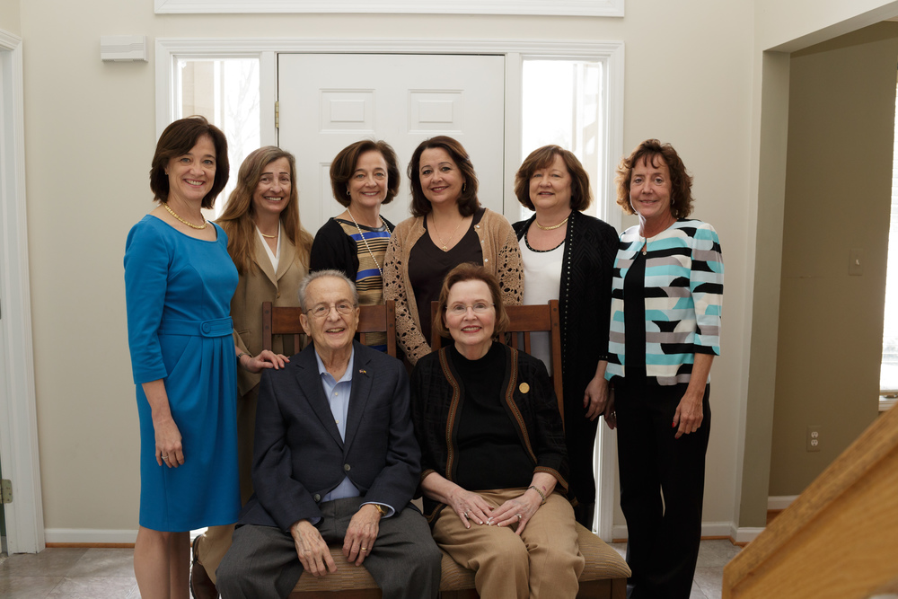This beautiful couple asked me to come capture both of their 80th birthday celebrations. Here they are with their 6 daughters who flew in from around the country to celebrate Mom & Dad.