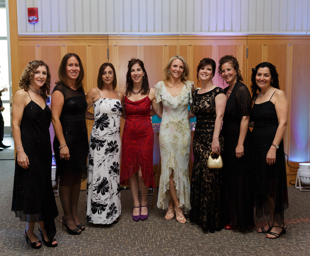 Beautiful ladies honoring Marci's late Mom by wearing her dresses to her Lily's Bat Mitzvah.