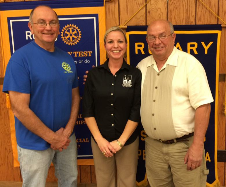 Photo of Tana Funair and St. Marys Rotary members