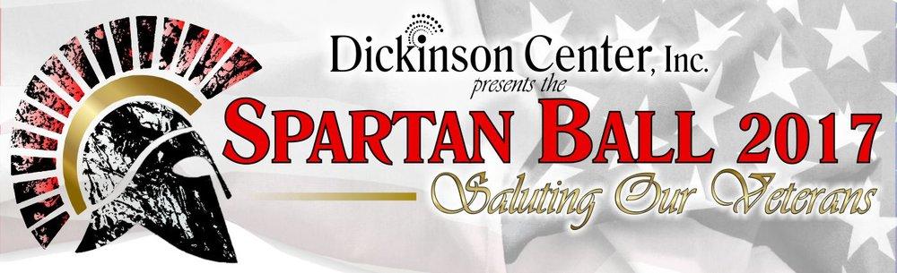 Spartan Ball Banner Image. Dickinson Center, Inc. presents the Spartan Ball 2017: Saluting Our Veterans