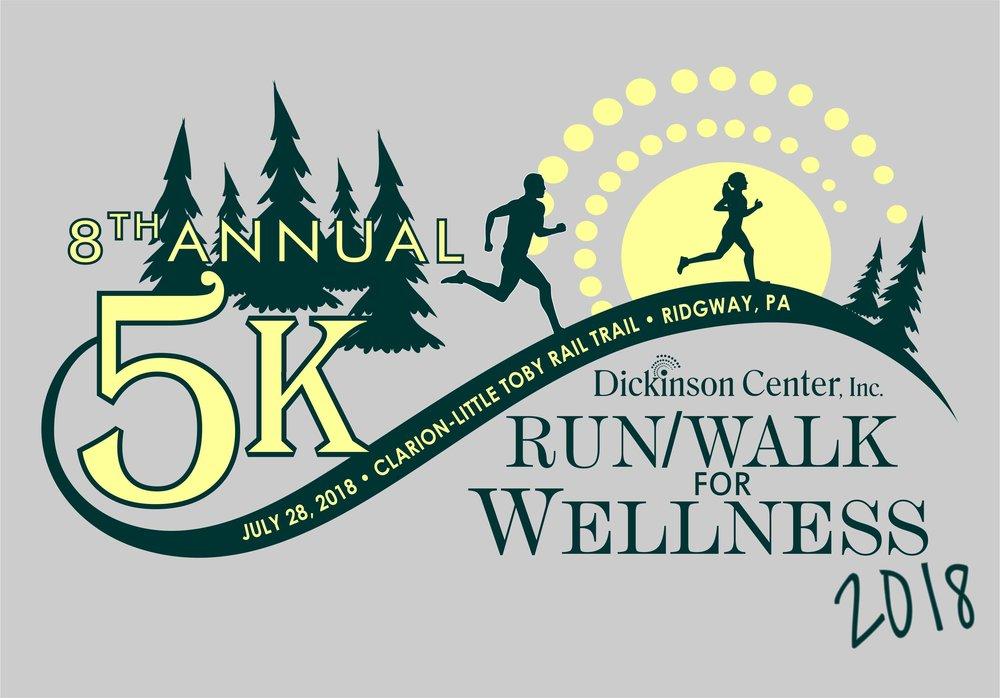 Wellness 5k graphic. Details below
