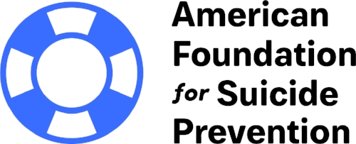 American Foundation for Suicide Prevention logo. Links to AFSP web page.