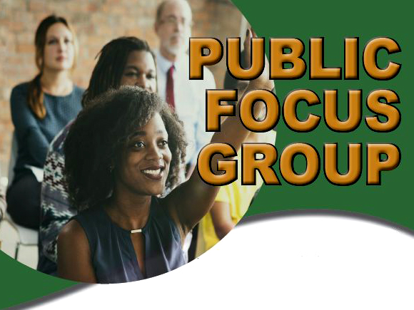 Public Focus Group header. Shows a group of participants.