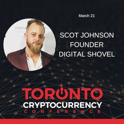 The Toronto Cryptocurrency Conference is back March 21 with Scot Johnson of Digital Shovel! RSVP today! #cryptocurrency #crypto #mining #digital #currency #bitcoin #litecoin #ethereum #blockchain #xrp #exchange #toronto #the6ix #events