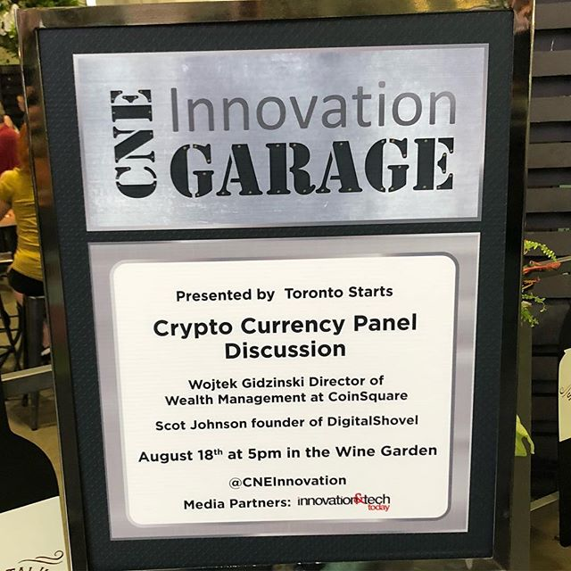 Happy to be hosting the #Canadian #Cryptocurrency #panel at the #cne #cneinnovation in less than an hour!!! With @coinsquare and more  #toronto #bitcoin #blockhain #conference #beer & #wine