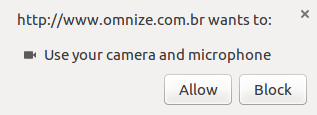 Compartilhe o microfone / câmera de seu computador para completar a conexão.