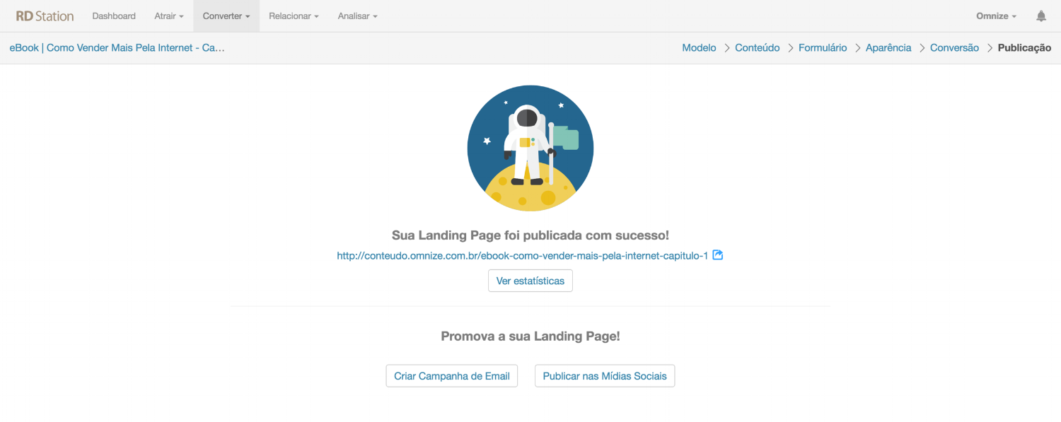 Inserindo o chat em Landing Pages do RD Station
