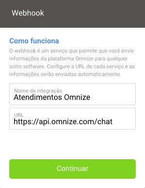 Exemplo de integração dos atendimentos para o Webhook
