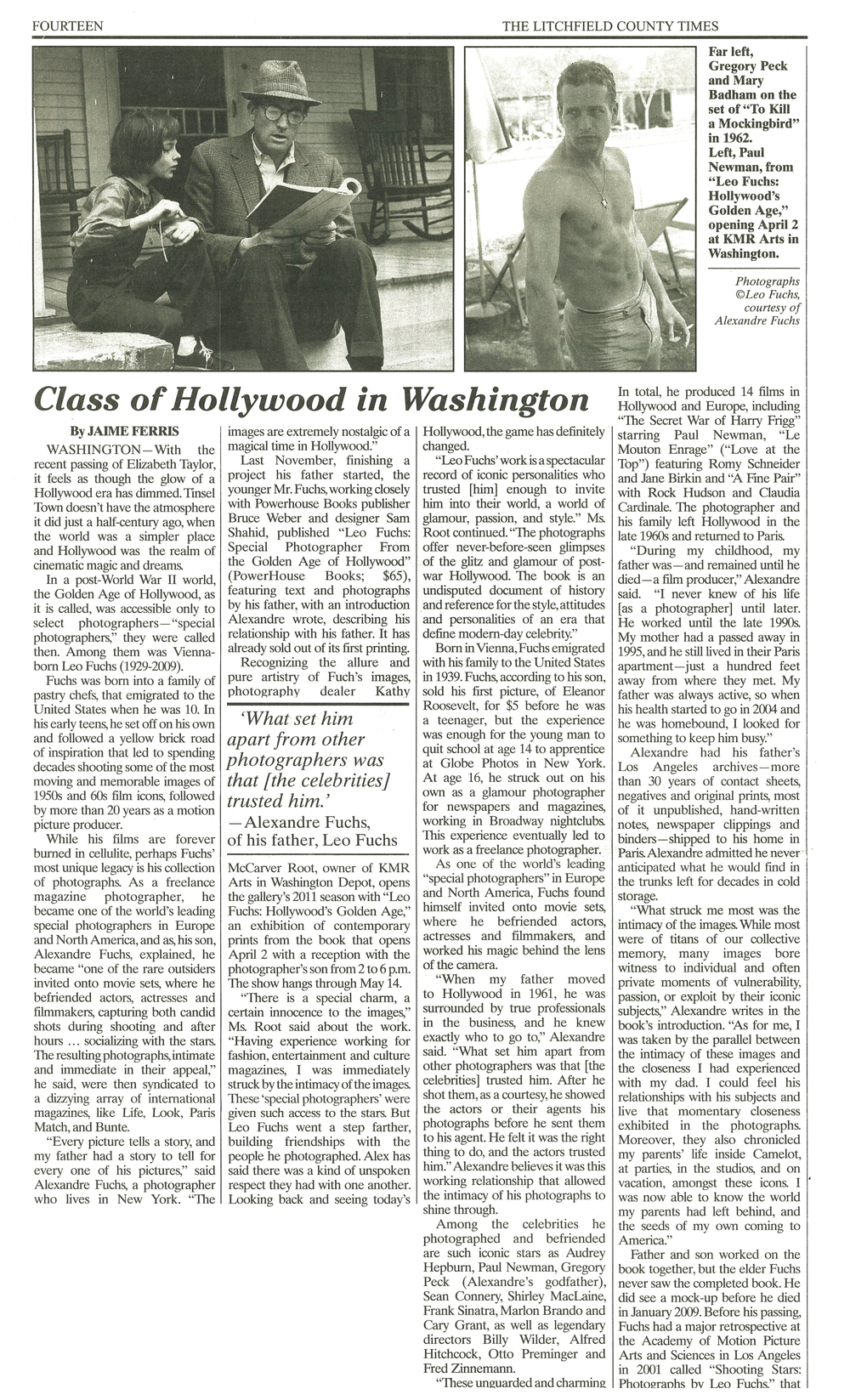 Class Of Hollywood in Washington. April 1, 2011 Litchfield County Times.jpg