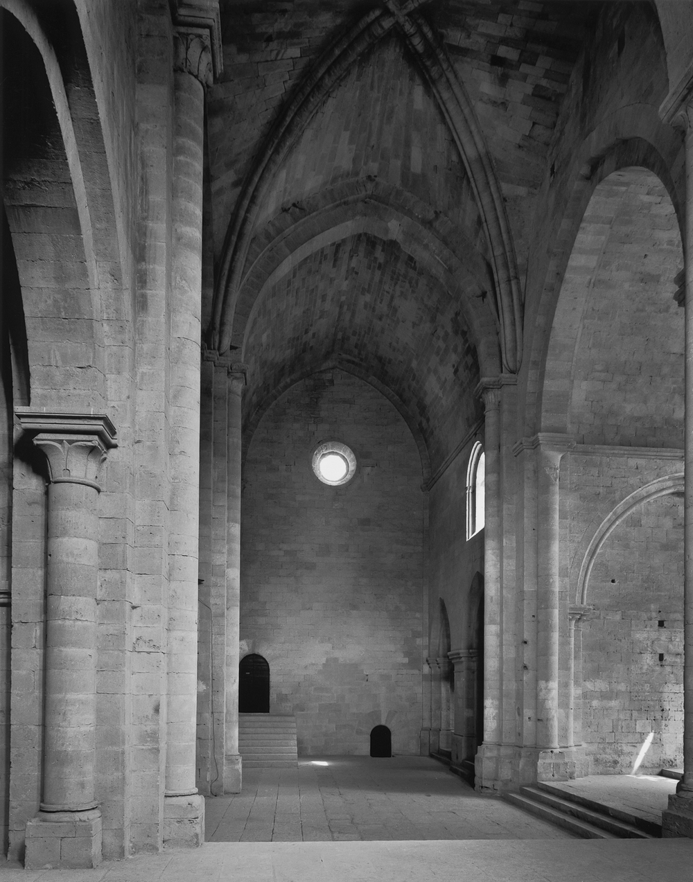 Crossing, North Transept and Night Stairs, Silvacane, 1986