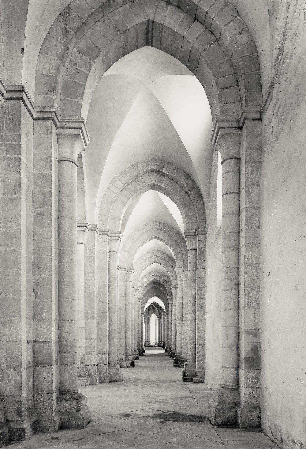 South Aisle Looking East, Pontigny, 1986