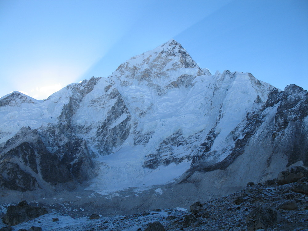 Sunrise over Nuptse in the Khumbu region of Nepal