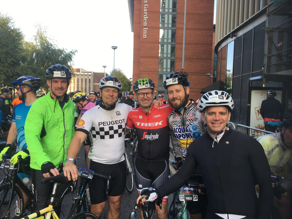 #TeamTGT at the start line, from left to right: Paul Ashley, Ed Lewsey, Matt Rendell, Morgan Phillips, Marc Bozdagon.