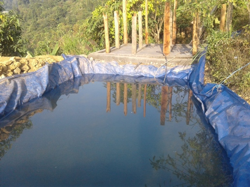 The Glacier Trust provides funding for construction of rainwater harvesting in Deurali. As rainfall patterns change and the dry season extends, this simple technology is becoming increasingly important.
