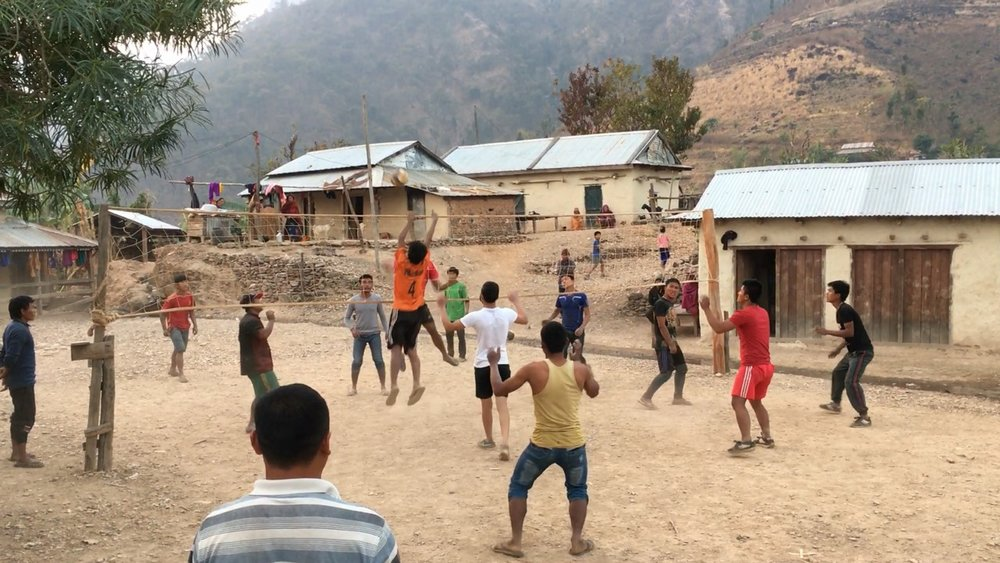 A volleyball match in Durlunga Baseni village, February 2017.