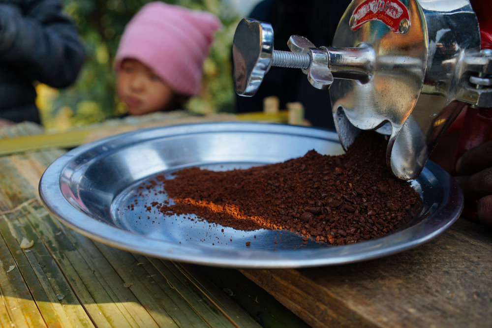 Fresh ground coffee, locally grown and delicious. A vital crop for Deusa and Waku as it adapts to climate change.