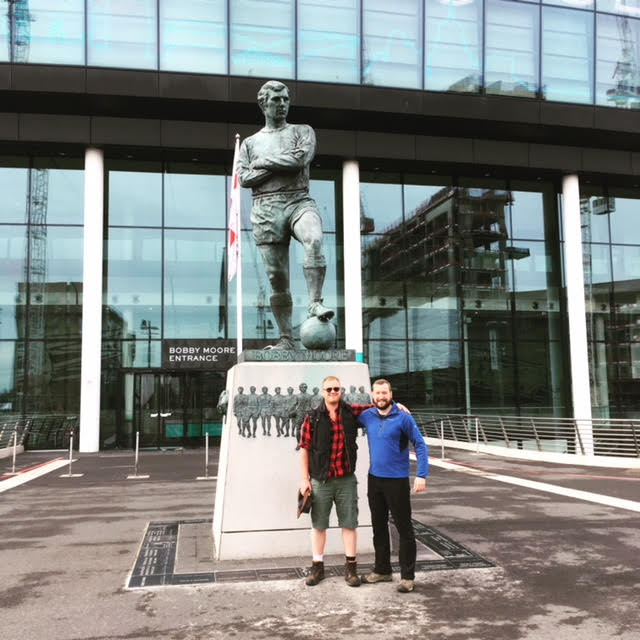 Glyn and Adam at Wembley Stadium