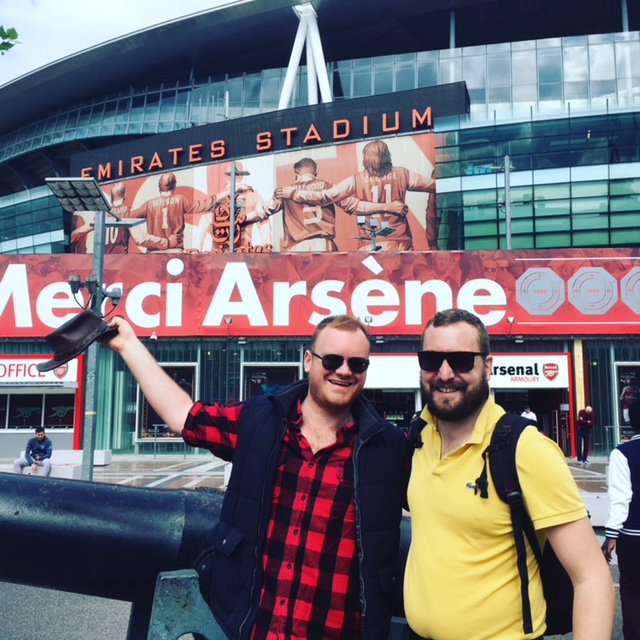 Glyn and Adam at Emirates Stadium