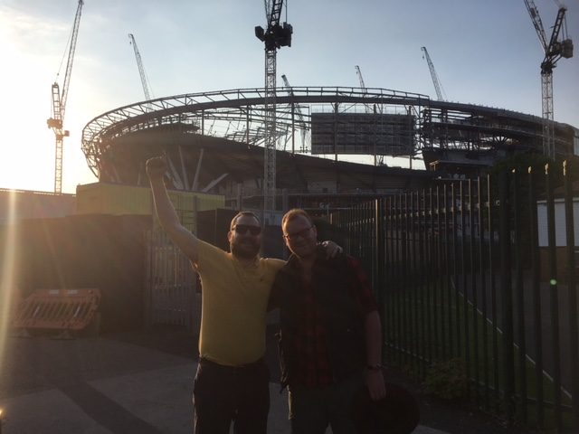 Glyn and Adam at White Hart Lane