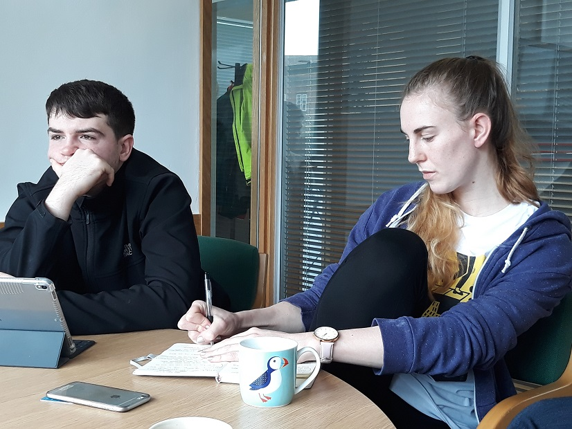 Tom and Katherine at a planning meeting in Southampton earlier this year.