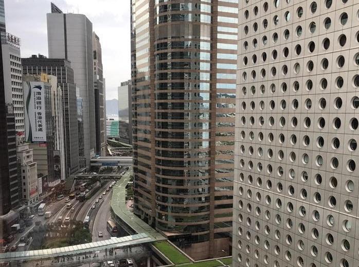 Roads in downtown Hong Kong