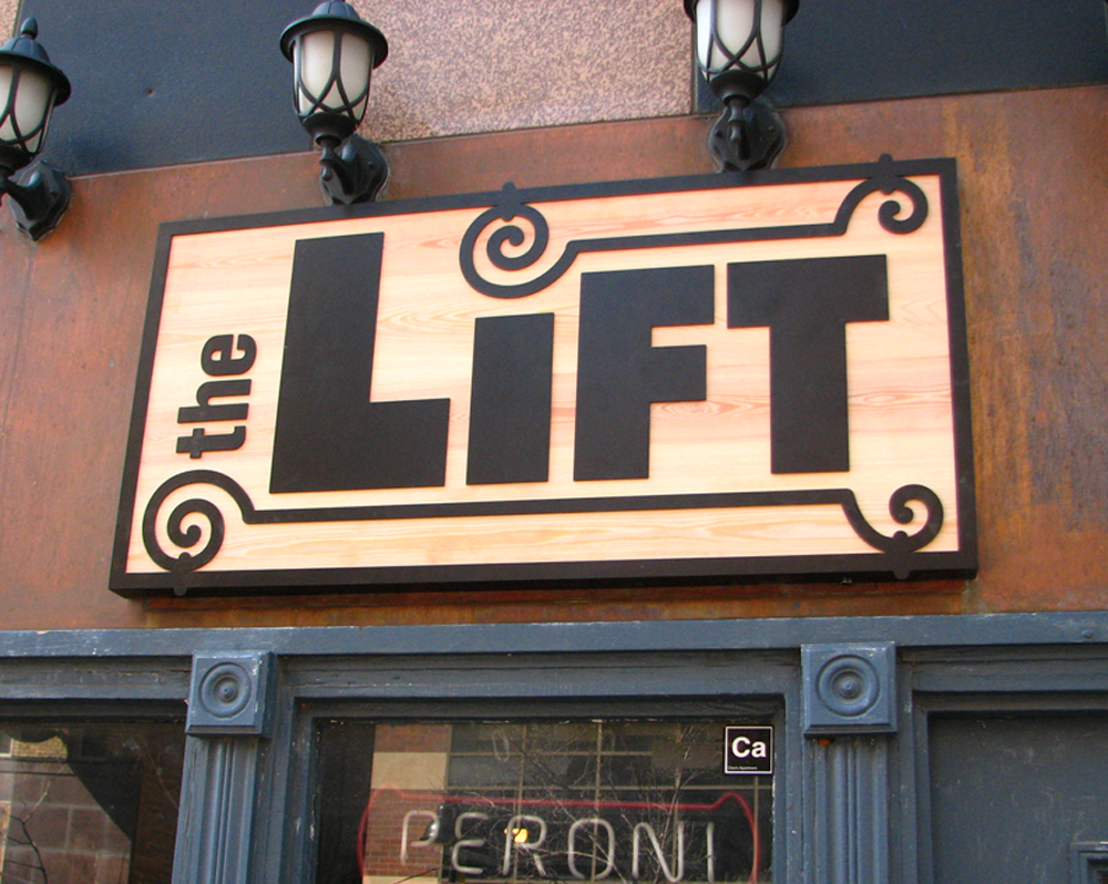 The Lift storefront sign