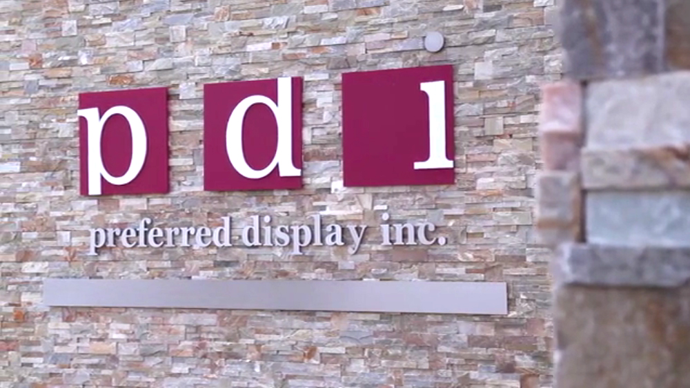 PDI company sign