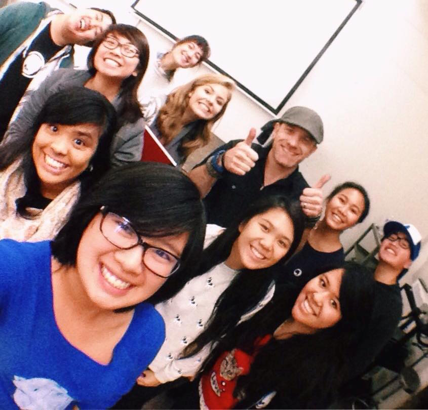 Stephen Silver and students from the Jan'15 workshop at San Jose State university. Photo Credit: Kaitlyn Joe