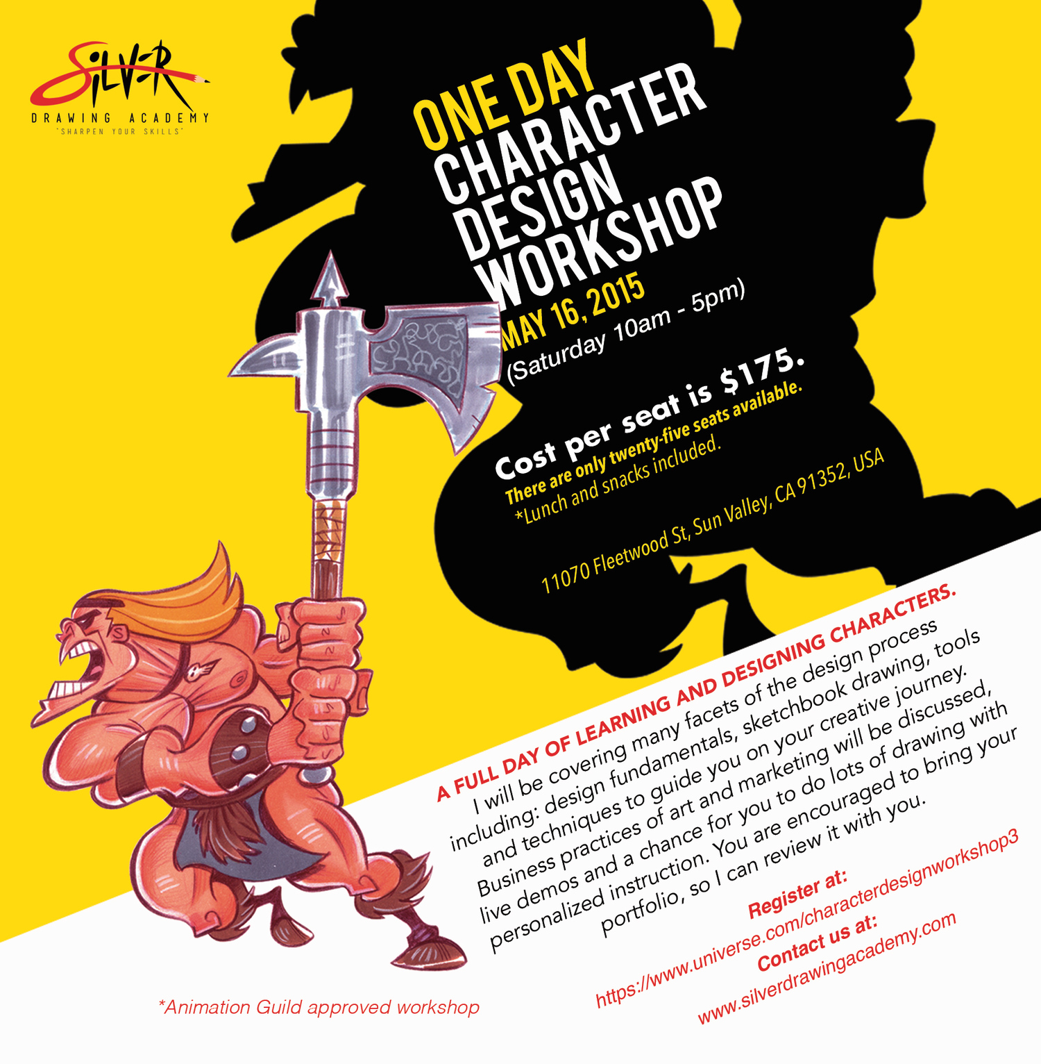 9402cb77e9 One Day Intensive Character Design Workshop May 16th 2015 — Stephen Silver