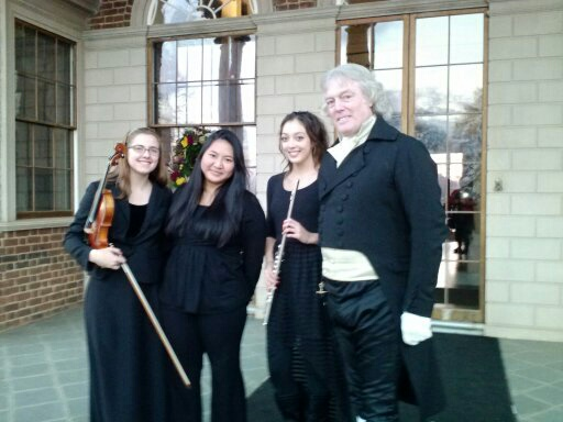 YOCVA ENSEMBLEs  PERFORM DURING HOLIDAY TOURS and 4th of july AT MONTICELLO.