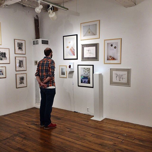 Mini gallery is all grown up.  #installation #beforeandafter #fortpointarts #ericforscale #photography #printmaking #sculpture #finallydone #gallery #artistsoninstagram