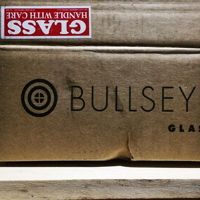Lucky for me @bullseyeglass takes packing more seriously than ups takes instructional stickers. Not a scratch on the glass.  #glasslife #phew #bullseyeglass #fragile
