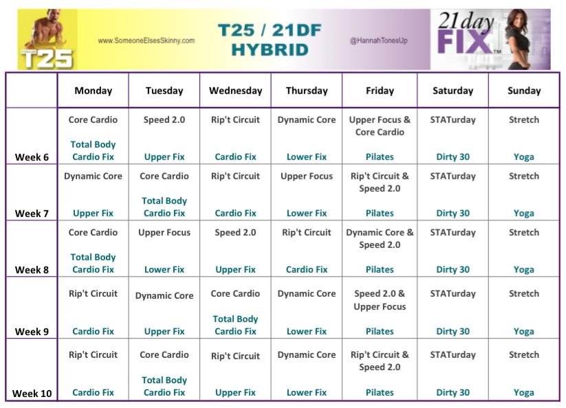 T25   21DF Hybrid Week...