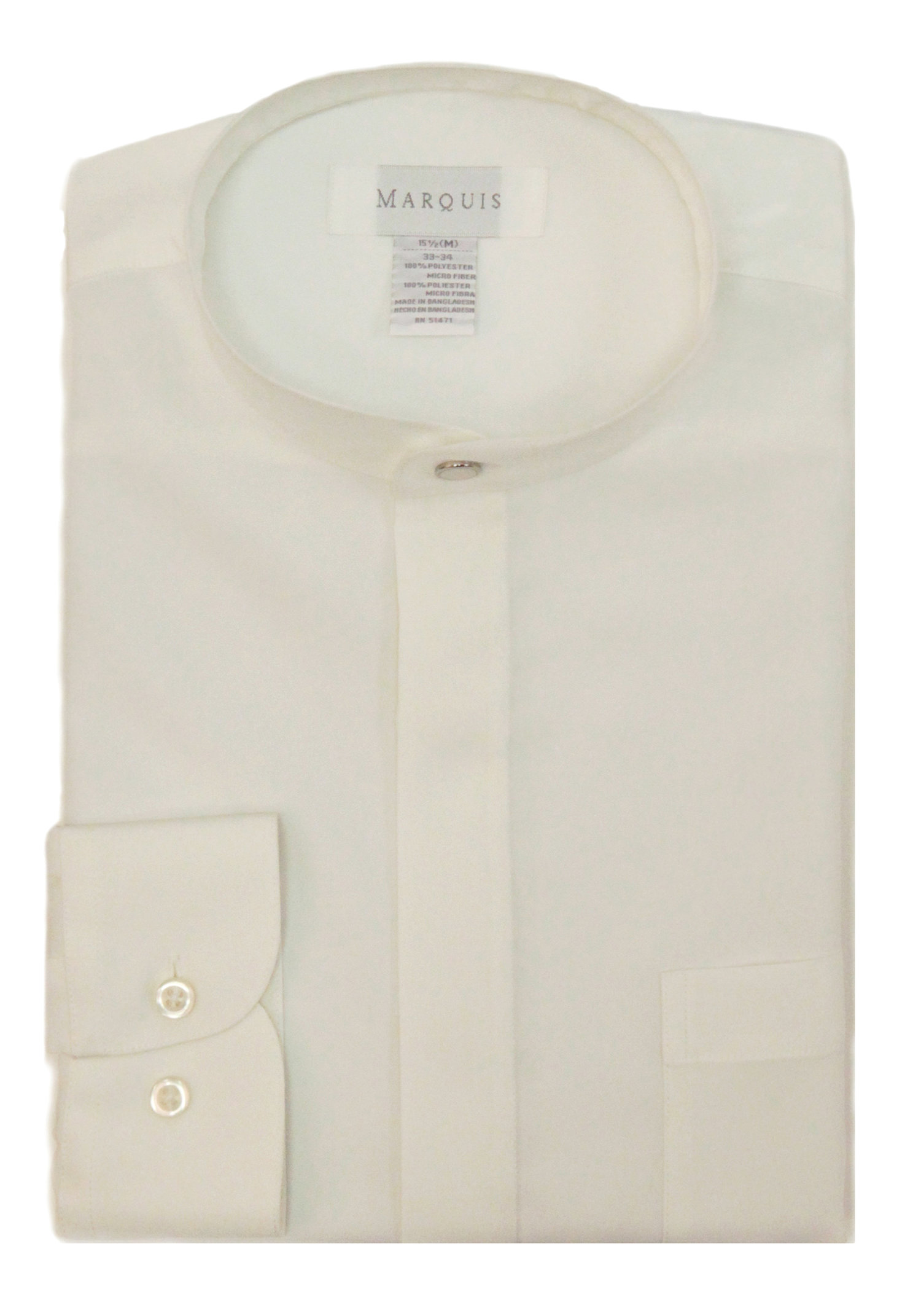 Banded Collar Shirt New M A R Q U I S