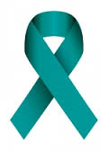 PCOS teal ribbon