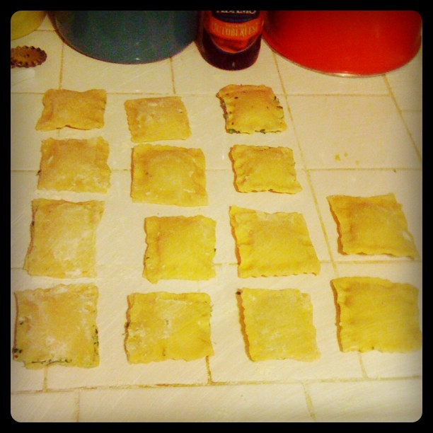 Homemade Ricotta & Spinach Ravioli - Before I knew that carbs and cheese were bad for me... oh the delicious memories.