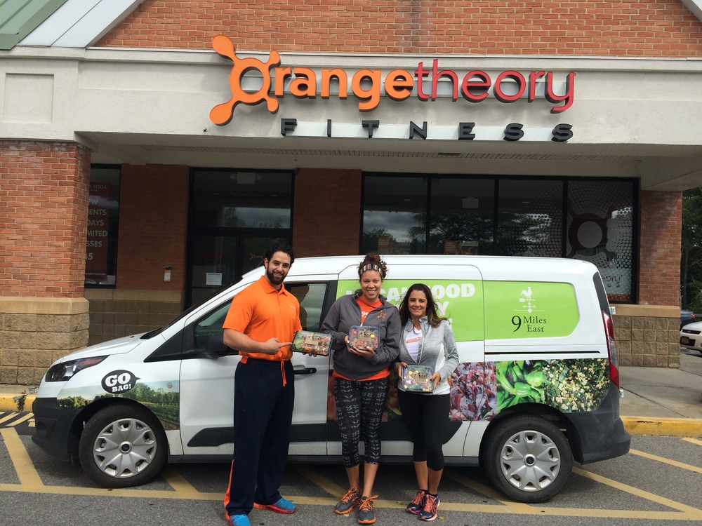 The Orange Theory Fitness crew sporting GO Boxes at their Nisakyuna center.