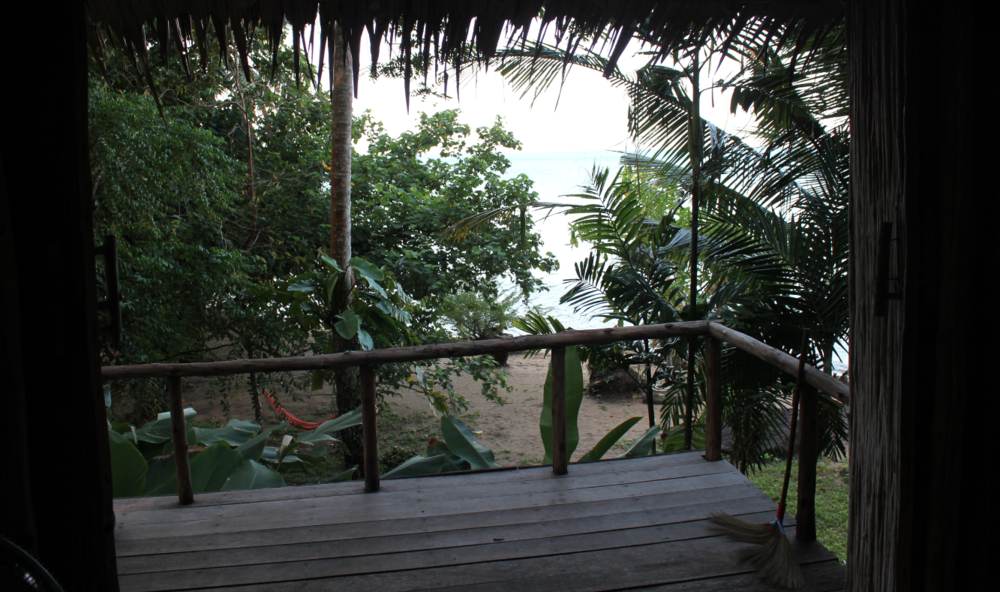 The view from one of the amazing bungalows