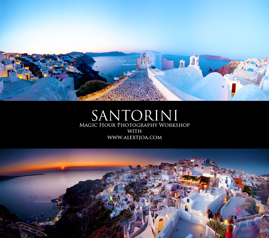 Santorini magic hour photography workshop