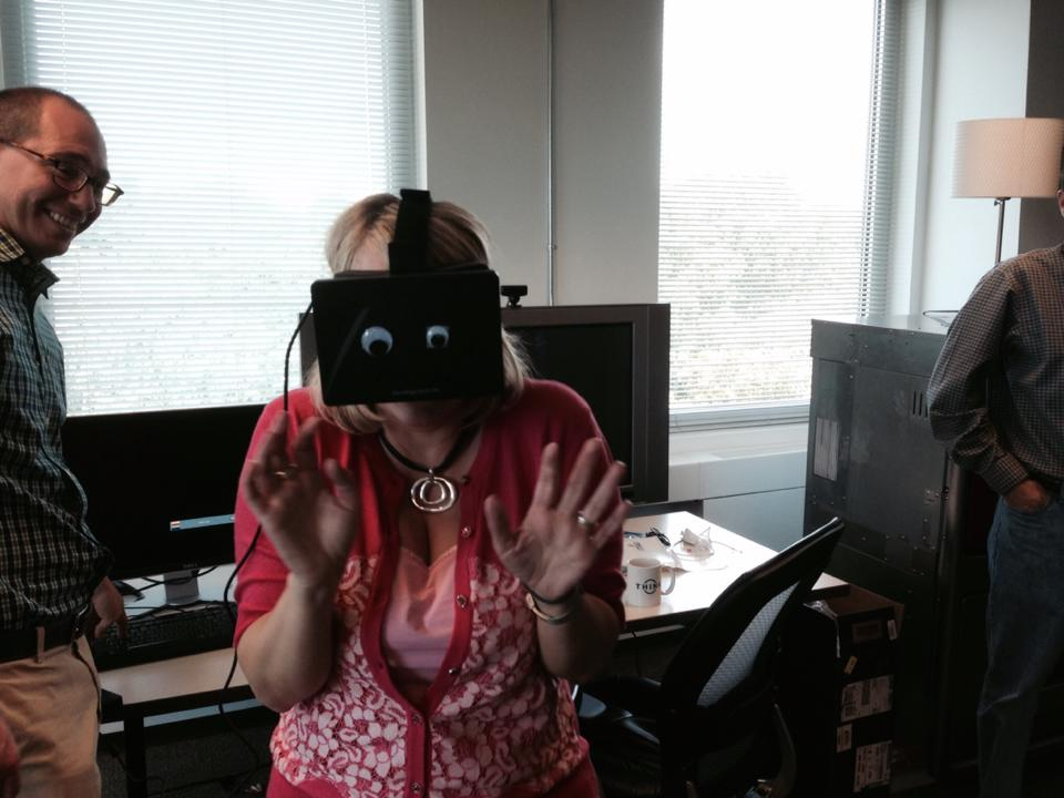 Googly eyes on the Oculus Rift