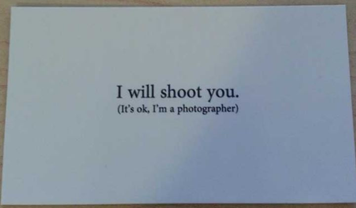 Unique business card - clever business cards for photographers