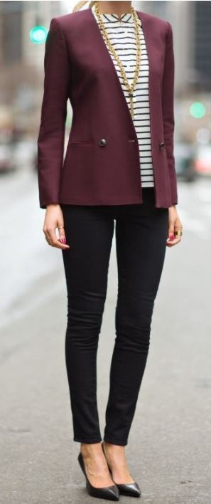 Balance is key - wearing a color on the top, should be balanced with a more muted bottom. Same goes for fit -  skinny pants, should be paired with a looser top.