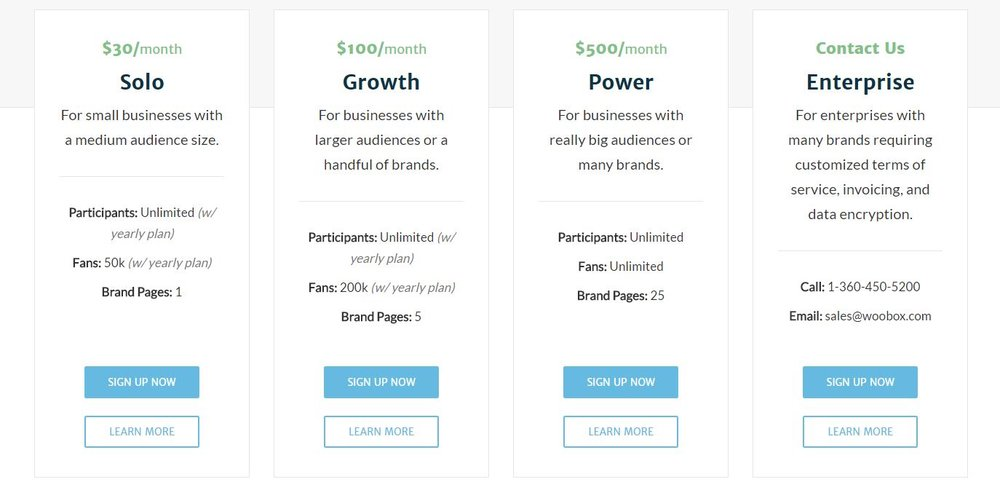 Woobox Pricing - Marketerstoolbox