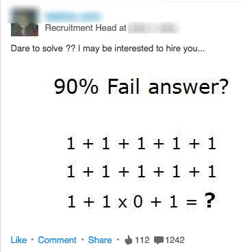 LinkedIn Math Problems - Inappropriate LinkedIn Posts