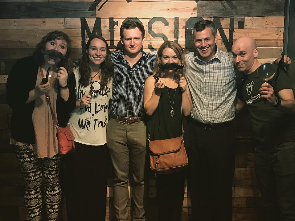AgencySparks' team at a staff bonding event at Escape the Room.